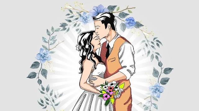 caricaturas para descargar novios y bodas