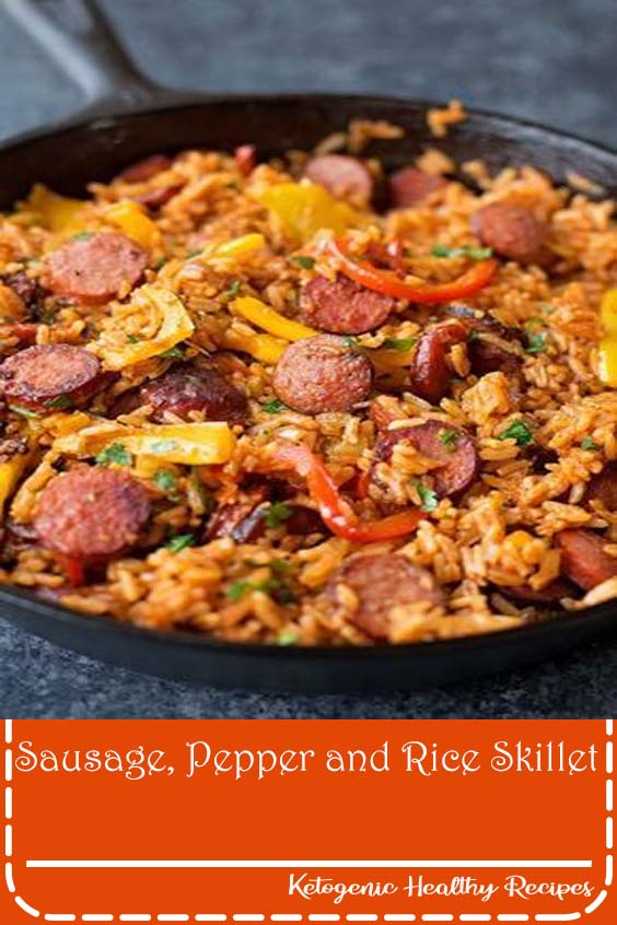 Sausage, Pepper and Rice Skillet