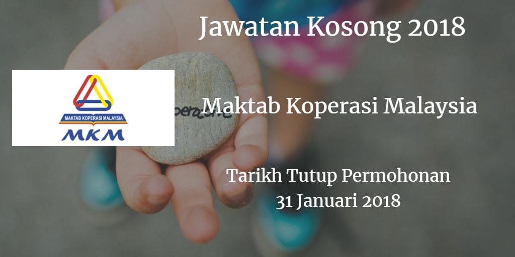 Jawatan Kosong MKM 31 Januari 2018