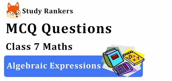 MCQ Questions for Class 7 Maths: Ch 12 Algebraic Expressions