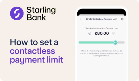 Starling Bank – How to set a contactless payment limit?