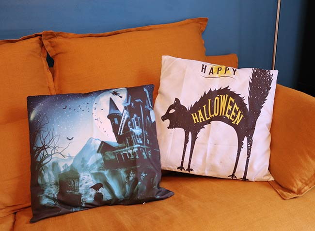 housses coussin halloween