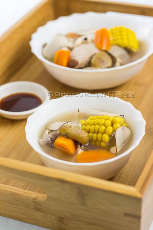 栗子海底椰雞湯【潤肺清甜】Sea Coconut and Chicken Soup   簡易食譜 - 基絲汀: 中西各式家常菜譜