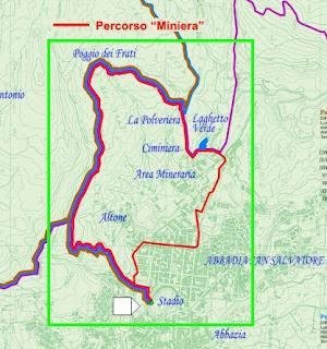 Mappa Percorso Parco Museo Minerario