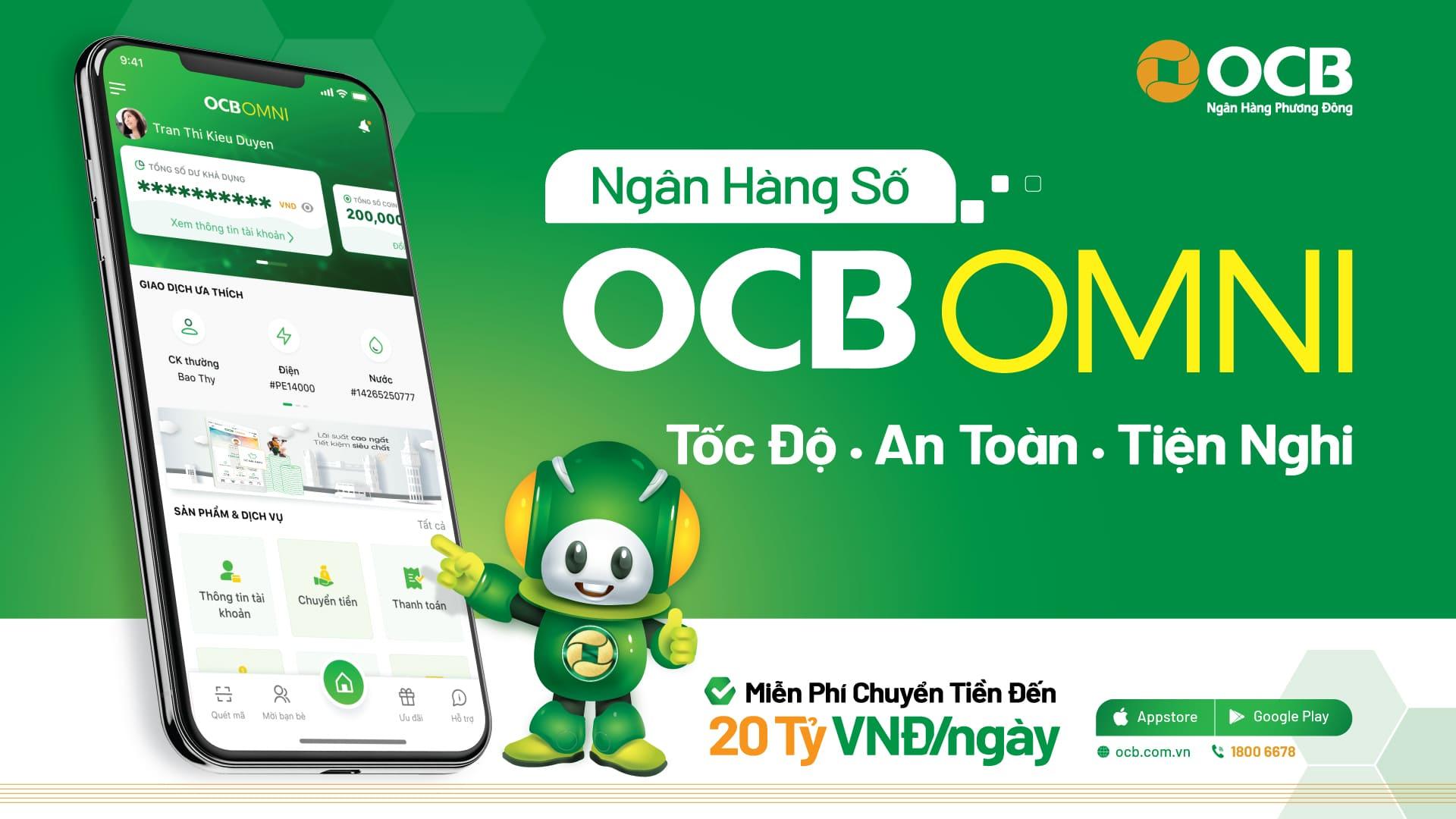 Hướng dẫn mở tài khoản OCB Online qua ứng dụng OMNI miễn phí mới nhất 2021