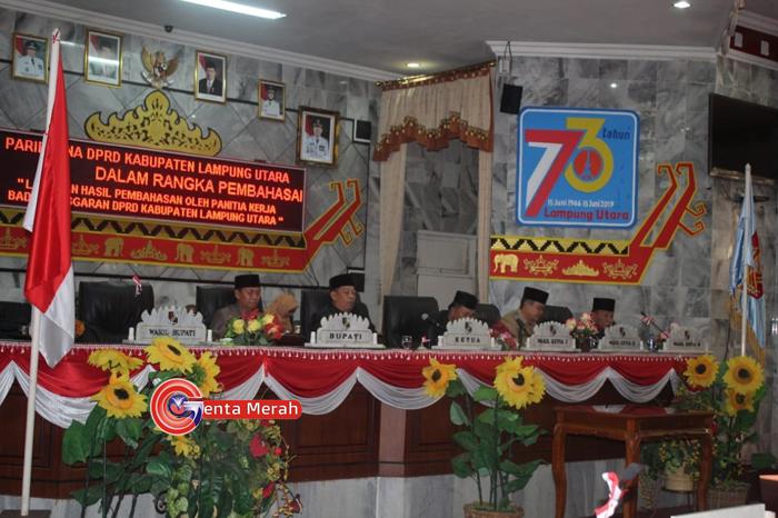 DPRD Lampura Bahas Pelaksanaan Anggaran 2018, Sebagai Proses LKPJ Kepala Daerah