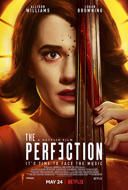 Movie poster for Netflix's 2019 horror film The Perfection