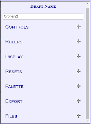 A screenshot of the new TDD control panel