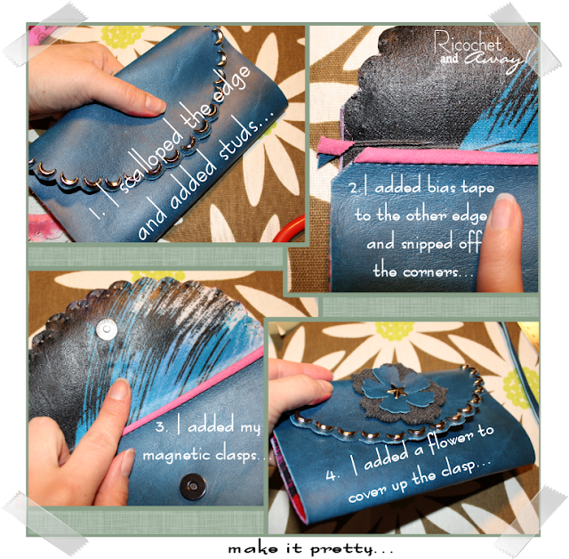 Painting Vinyl Floors Ricochet And Away I Painted: Ricochet And Away!: The Envelope Wristlet