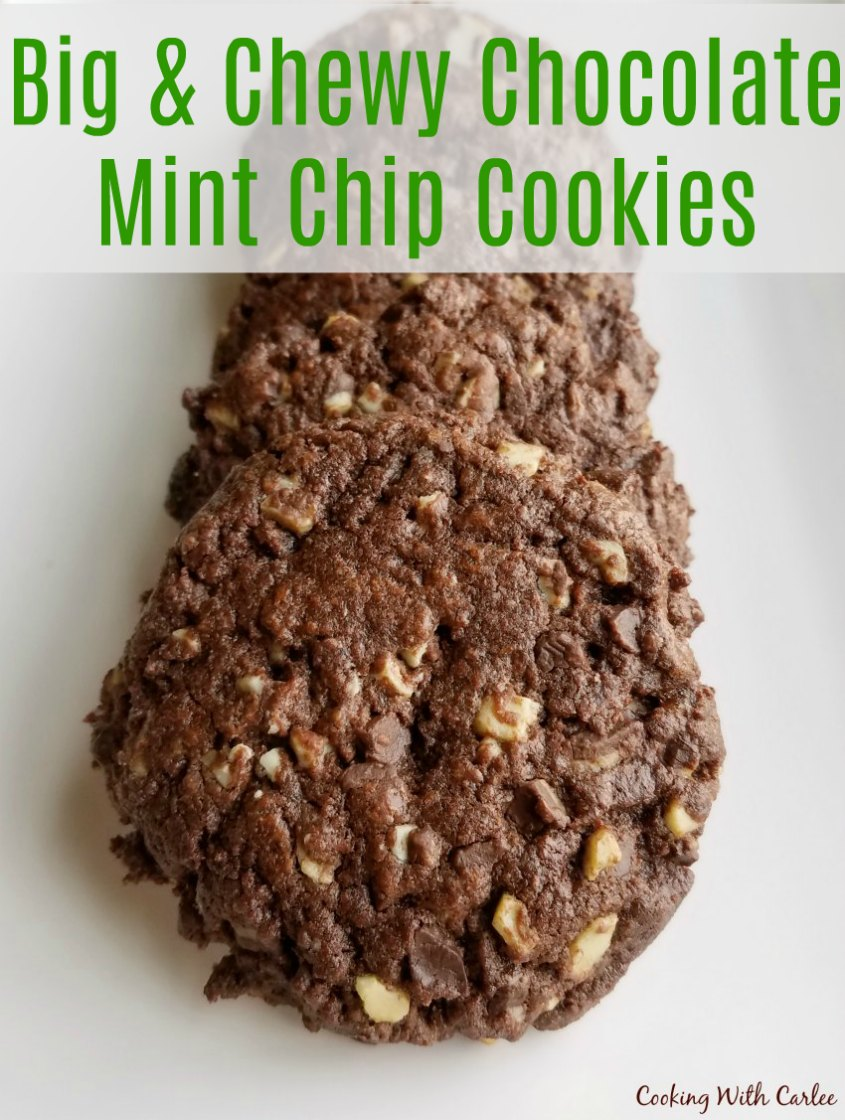 Chewy Mint Chocolate Crinkle Cookies