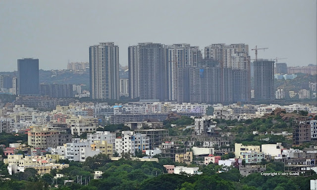 Golkonda Fort overlooking the city of Hyderabad