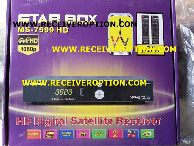 STAR BOX MS-7999 HD RECEIVER AUTO ROLL POWERVU KEY NEW SOFTWARE