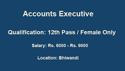 Accounts Executive | Bhiwandi