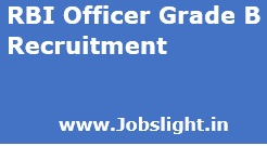 RBI Officer Grade B Recruitment