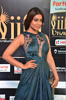 Shriya Saran in Beautiful Transparent Dark Gown IIFA Utsavam Awards 2017 062.JPG