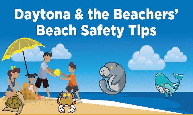 Daytona & The Beachers Beach Safety Tips #infographic