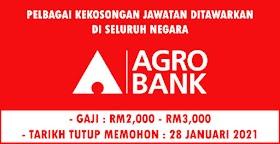 TERKINI! Jawatan Kosong Di Agro Bank -Terbuka Di Seluruh Negara!