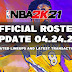NBA 2K21 OFFICIAL ROSTER UPDATE 04.24.21 LATEST TRANSACTIONS