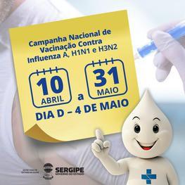 Campanha Nacional de Vacinação contra a gripe tem início na próxima quarta-feira