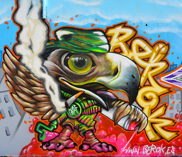 graffiti águila