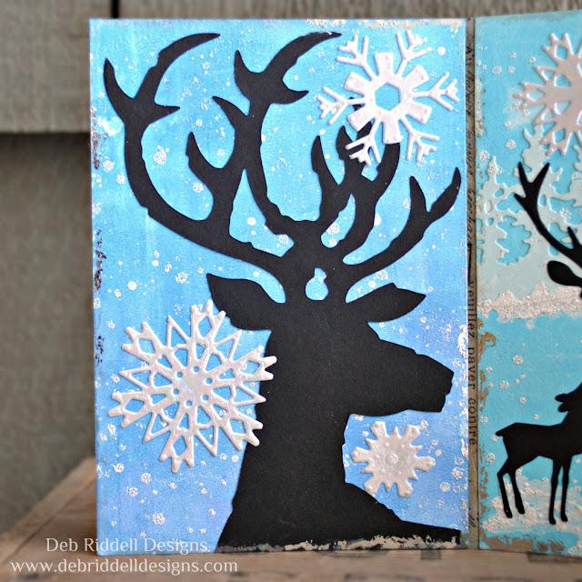Winter Deer Triptych Panel One