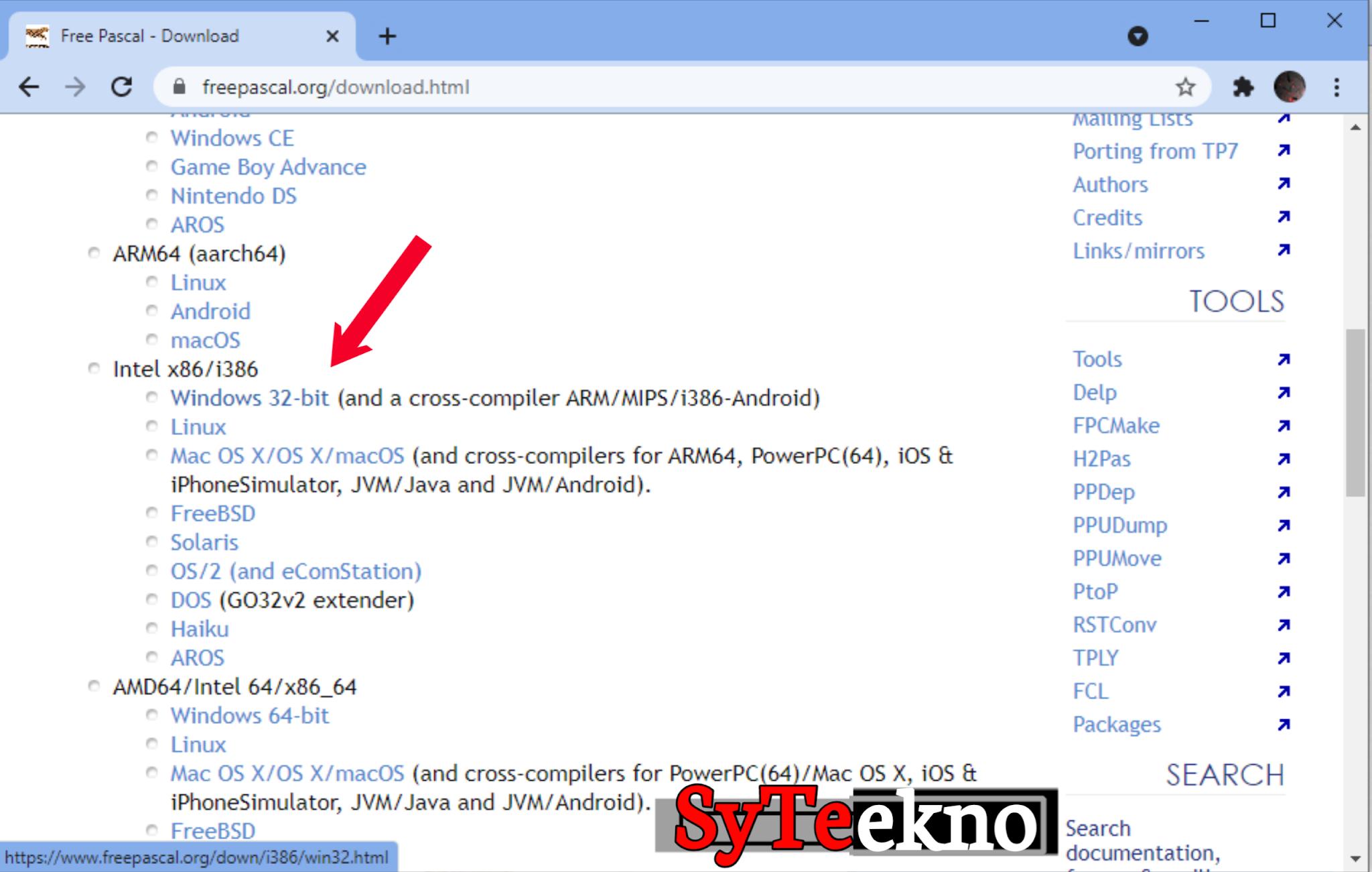 Mendownload Pascal melalui web bag 2 syteekno