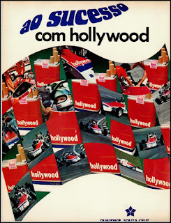 propaganda cigarros Hollywood 1976, anúncio cigarros anos 70, cigarros década de 70, Oswaldo Hernandez, Souza Cruz anos 70,
