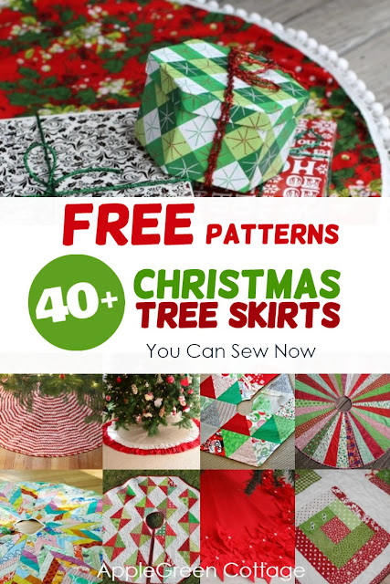 tree skirt free patterns - If you are looking to sew a new Christmas tree skirt, here is a great list of popular free patterns and tutorials for tree skirts for you to try out! For every skill level, from beginners to advanced.