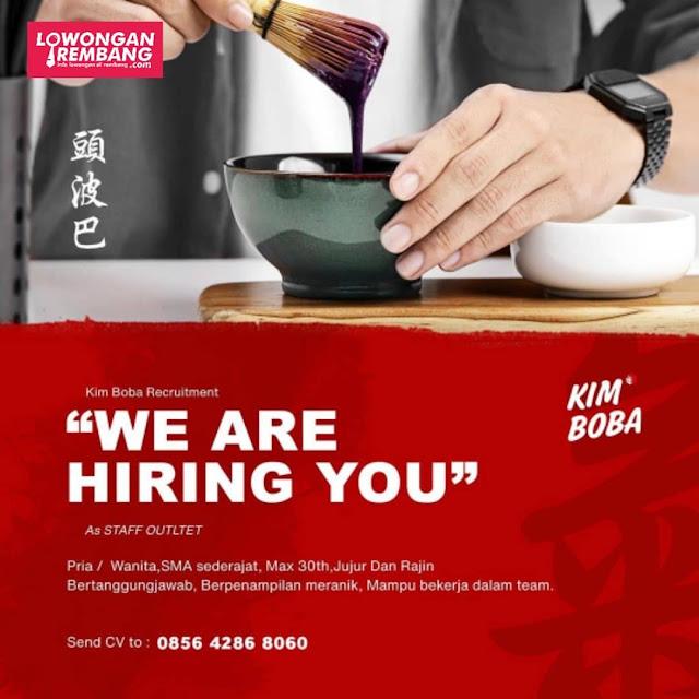 Lowongan Kerja Staff Outlet Kim Boba Rembang