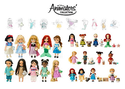 """Большие и маленькие диснеевские принцессы в детстве, серия """"аниматоры"""""""