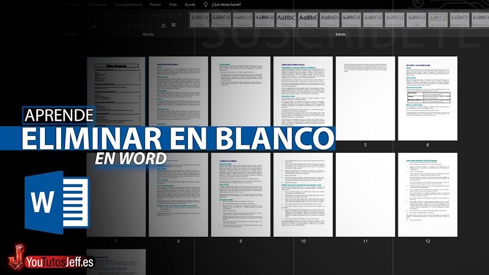 Como Eliminar una Pagina en Blanco en Word