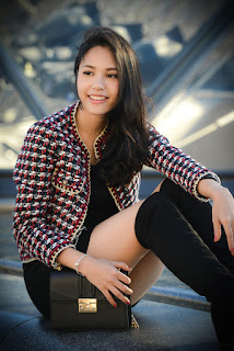 Hermosa chica asiatica piernas sexys