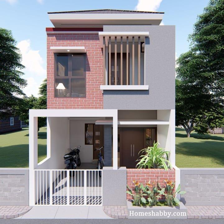Desain Dan Denah Rumah 2 Lantai 5 X 12 M Konsep Sederhana Tapi Elegan Di Pandang Homeshabby Com Design Home Plans Home Decorating And Interior Design