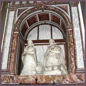 Sepulcro de Rodrigo Calderón y  de su esposa, en el convento de Porta Coeli, Valladolid