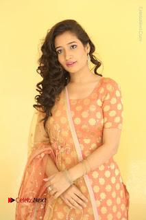 Telugu Actress Santoshi Sharma Latest Stills in Salwar Kameez at HBD Movie Teaser Launch  0022.JPG