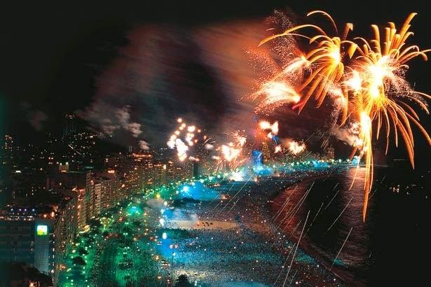 New Year Eve 2016 Rio de Janeiro Fireworks Images