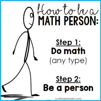 """""""We are all math people!"""" Growth mindset poster"""