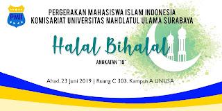 contoh banner halal bihalal keluarga besar dan organisasi pmii