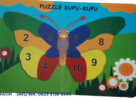 Puzzle Edukasi Anak Angka Kupu-Kupu