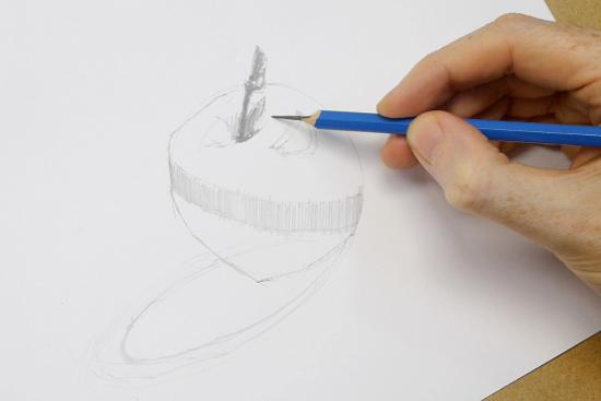 elma resmi nasıl çizilir