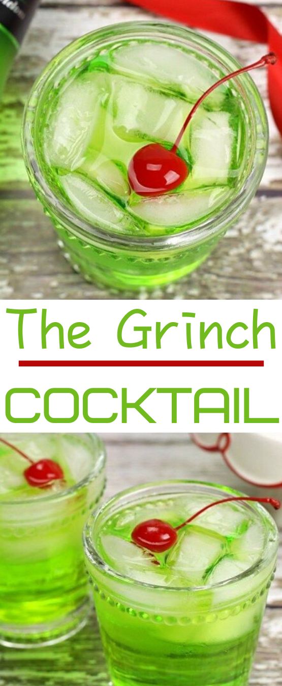 The Grinch Cocktail #alcohol #drinks #cocktails #party #christmas