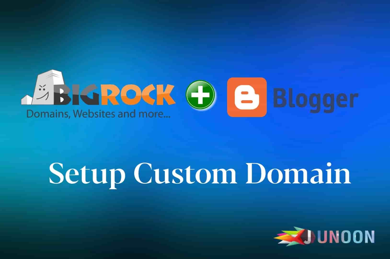 How to setup bigrock custom domain with blogger