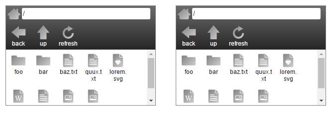 jQuery File Browser Plugin