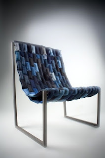 up-cycle denim, chair