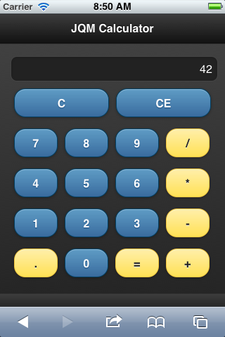 The Rock n Coder: jQuery Mobile Calculator