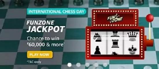 Amazon International Chess Day Funzone Quiz Answers win Rs. 60,000 Amazon Pay Balance