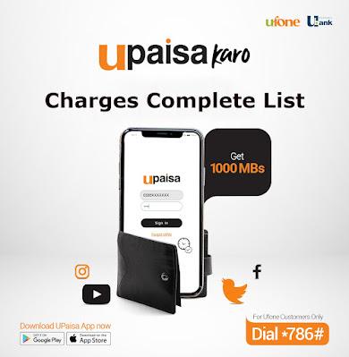 U Paisa Charges List