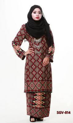 15 Contoh Gambar Model Baju Kurung Batik Terbaru