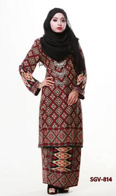Desain baju batik kurung untuk kerja guru