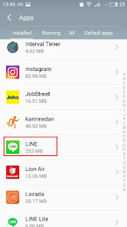 cara daftar akun line baru tanpa hapus aplikasi